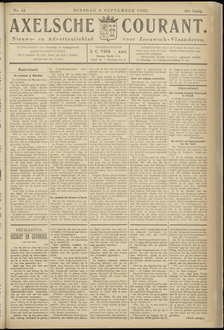 Axelsche Courant 1925-09-08