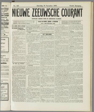 Nieuwe Zeeuwsche Courant 1908-11-28