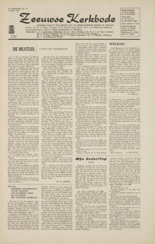 Zeeuwsche kerkbode, weekblad gewijd aan de belangen der gereformeerde kerken/ Zeeuwsch kerkblad 1964-06-26