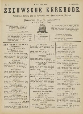 Zeeuwsche kerkbode, weekblad gewijd aan de belangen der gereformeerde kerken/ Zeeuwsch kerkblad 1890-11-01