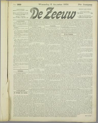 De Zeeuw. Christelijk-historisch nieuwsblad voor Zeeland 1924-08-06