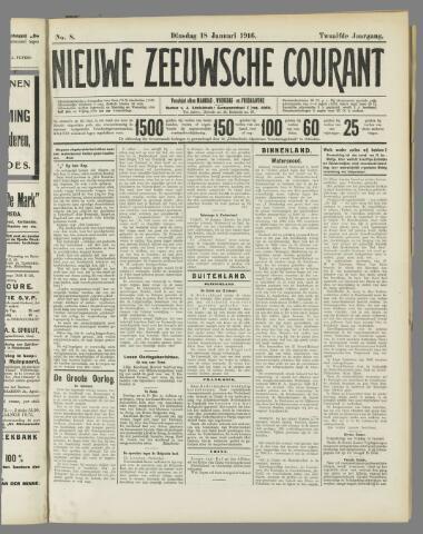 Nieuwe Zeeuwsche Courant 1916-01-18
