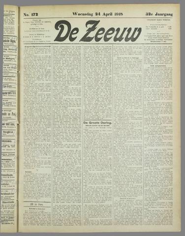 De Zeeuw. Christelijk-historisch nieuwsblad voor Zeeland 1918-04-24