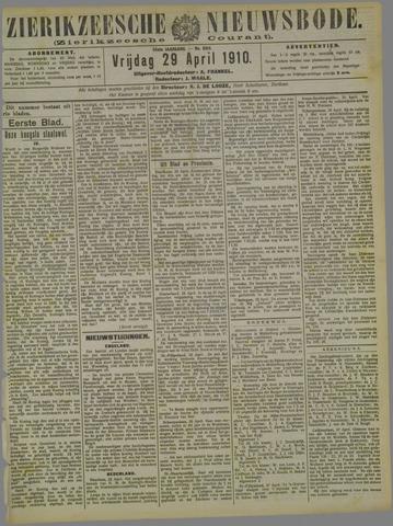 Zierikzeesche Nieuwsbode 1910-04-29