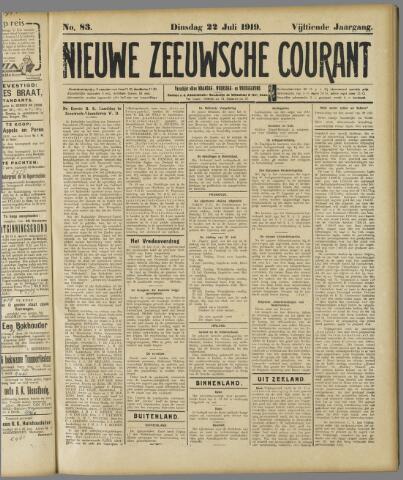 Nieuwe Zeeuwsche Courant 1919-07-22
