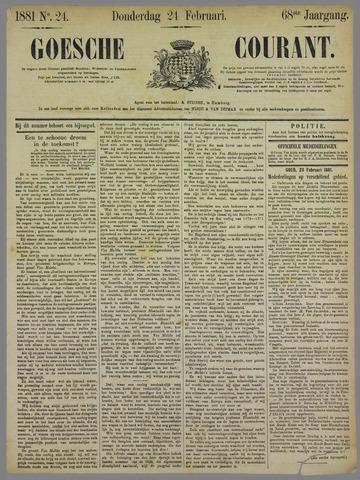 Goessche Courant 1881-02-24