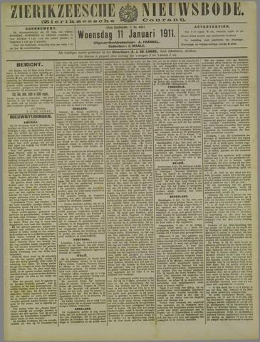 Zierikzeesche Nieuwsbode 1911-01-11