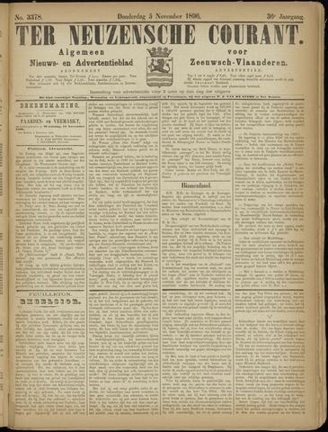 Ter Neuzensche Courant. Algemeen Nieuws- en Advertentieblad voor Zeeuwsch-Vlaanderen / Neuzensche Courant ... (idem) / (Algemeen) nieuws en advertentieblad voor Zeeuwsch-Vlaanderen 1896-11-05