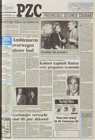 Provinciale Zeeuwse Courant 1987-09-17