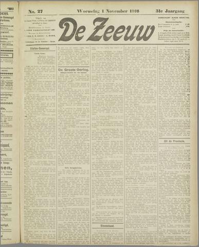 De Zeeuw. Christelijk-historisch nieuwsblad voor Zeeland 1916-11-01