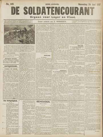 De Soldatencourant. Orgaan voor Leger en Vloot 1917-06-20