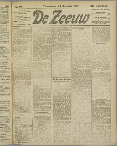 De Zeeuw. Christelijk-historisch nieuwsblad voor Zeeland 1917-01-24