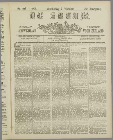 De Zeeuw. Christelijk-historisch nieuwsblad voor Zeeland 1912-02-07