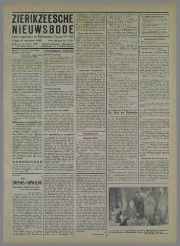 Zierikzeesche Nieuwsbode 1942-11-27