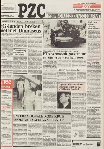 Provinciale Zeeuwse Courant 1986-10-27