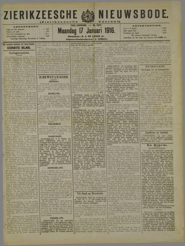 Zierikzeesche Nieuwsbode 1916-01-17