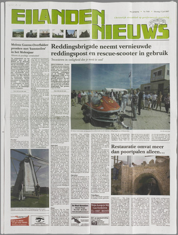 Eilanden-nieuws. Christelijk streekblad op gereformeerde grondslag 2007-07-17