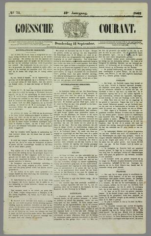 Goessche Courant 1862-09-11