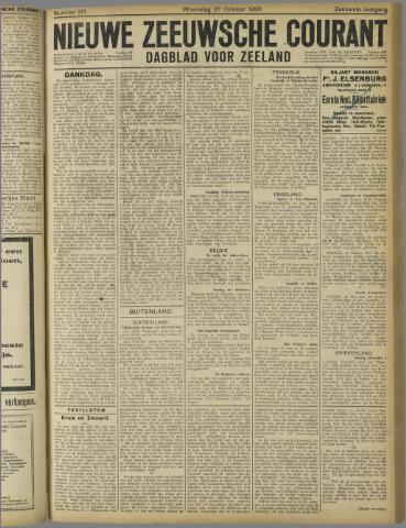 Nieuwe Zeeuwsche Courant 1920-10-27