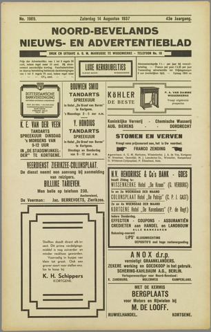Noord-Bevelands Nieuws- en advertentieblad 1937-08-14