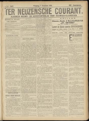 Ter Neuzensche Courant. Algemeen Nieuws- en Advertentieblad voor Zeeuwsch-Vlaanderen / Neuzensche Courant ... (idem) / (Algemeen) nieuws en advertentieblad voor Zeeuwsch-Vlaanderen 1921-10-07
