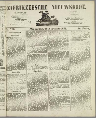 Zierikzeesche Nieuwsbode 1851-08-28