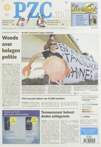 Provinciale Zeeuwse Courant 2009-08-24