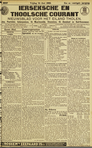 Ierseksche en Thoolsche Courant 1929-06-21