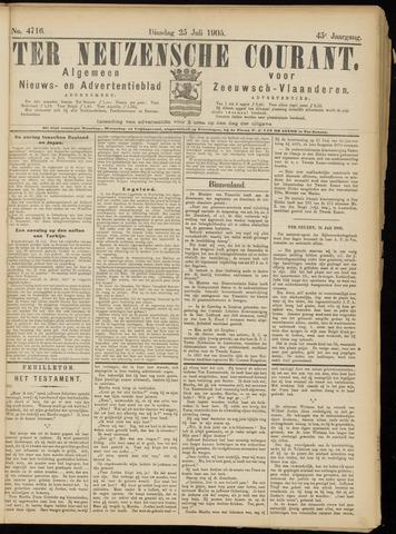 Ter Neuzensche Courant. Algemeen Nieuws- en Advertentieblad voor Zeeuwsch-Vlaanderen / Neuzensche Courant ... (idem) / (Algemeen) nieuws en advertentieblad voor Zeeuwsch-Vlaanderen 1905-07-25