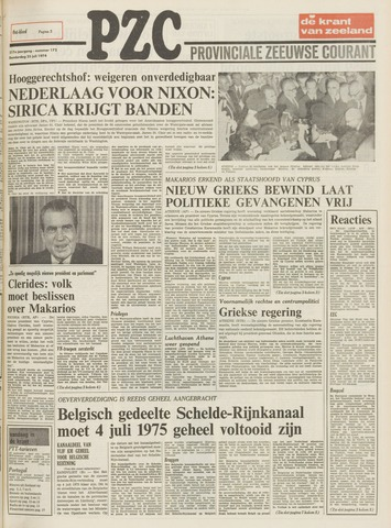 Provinciale Zeeuwse Courant 1974-07-25