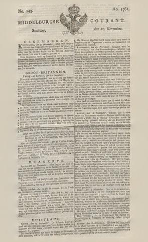 Middelburgsche Courant 1761-11-28