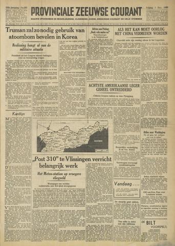Provinciale Zeeuwse Courant 1950-12-01