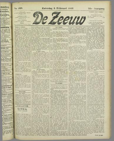 De Zeeuw. Christelijk-historisch nieuwsblad voor Zeeland 1921-02-05