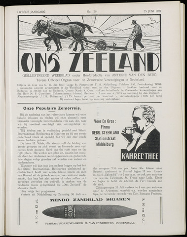 Ons Zeeland / Zeeuwsche editie 1927-06-25