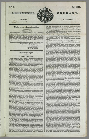 Zierikzeesche Courant 1844-01-05