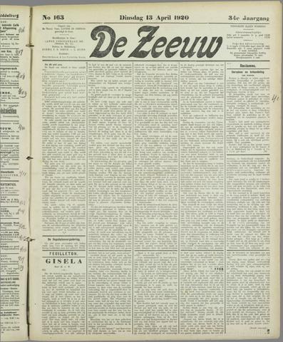 De Zeeuw. Christelijk-historisch nieuwsblad voor Zeeland 1920-04-13