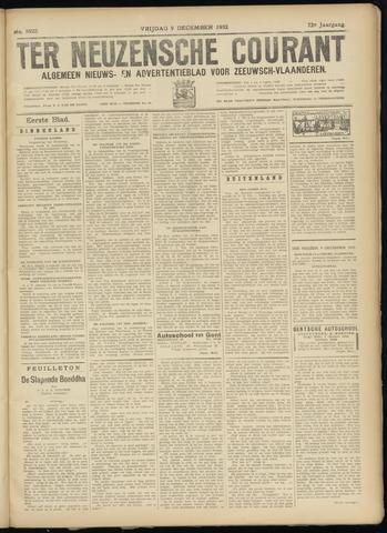 Ter Neuzensche Courant. Algemeen Nieuws- en Advertentieblad voor Zeeuwsch-Vlaanderen / Neuzensche Courant ... (idem) / (Algemeen) nieuws en advertentieblad voor Zeeuwsch-Vlaanderen 1932-12-09