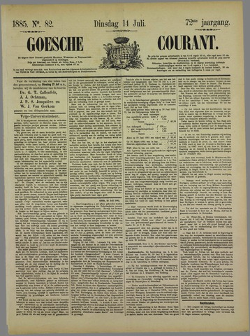 Goessche Courant 1885-07-14