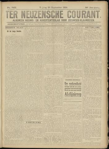 Ter Neuzensche Courant. Algemeen Nieuws- en Advertentieblad voor Zeeuwsch-Vlaanderen / Neuzensche Courant ... (idem) / (Algemeen) nieuws en advertentieblad voor Zeeuwsch-Vlaanderen 1924-09-26