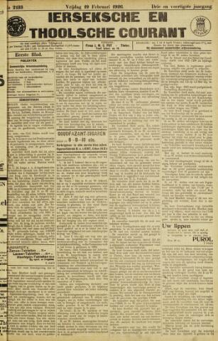 Ierseksche en Thoolsche Courant 1926-02-19
