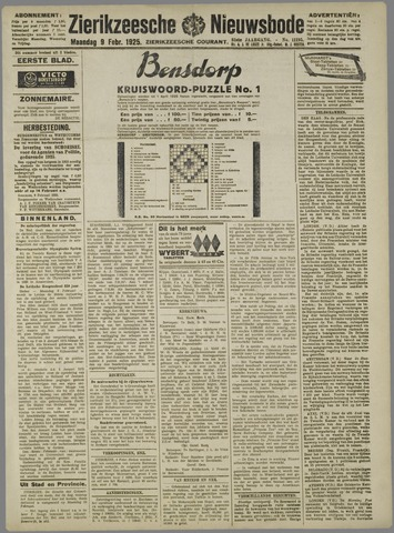 Zierikzeesche Nieuwsbode 1925-02-09