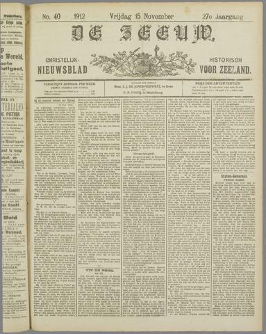 De Zeeuw. Christelijk-historisch nieuwsblad voor Zeeland 1912-11-15