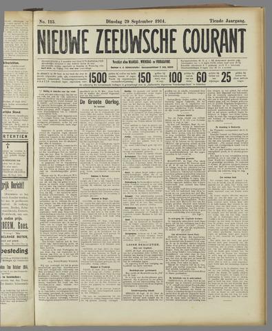 Nieuwe Zeeuwsche Courant 1914-09-29