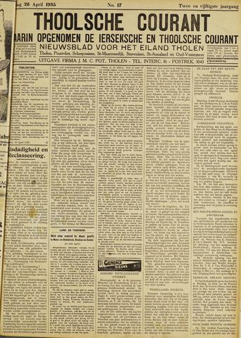Ierseksche en Thoolsche Courant 1935-04-26