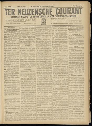 Ter Neuzensche Courant. Algemeen Nieuws- en Advertentieblad voor Zeeuwsch-Vlaanderen / Neuzensche Courant ... (idem) / (Algemeen) nieuws en advertentieblad voor Zeeuwsch-Vlaanderen 1934-02-14