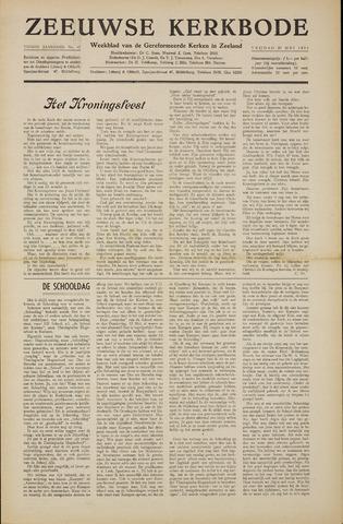 Zeeuwsche kerkbode, weekblad gewijd aan de belangen der gereformeerde kerken/ Zeeuwsch kerkblad 1955-05-20