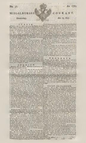 Middelburgsche Courant 1762-05-13