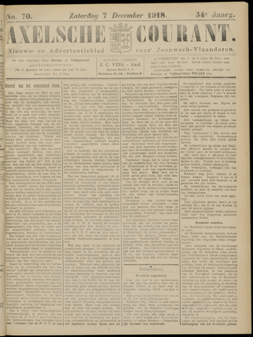 Axelsche Courant 1918-12-07