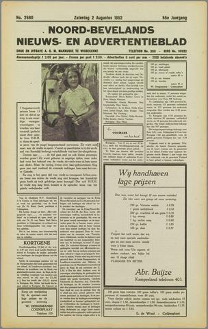 Noord-Bevelands Nieuws- en advertentieblad 1952-08-02