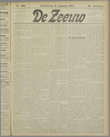 De Zeeuw. Christelijk-historisch nieuwsblad voor Zeeland 1917-08-09